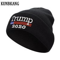 New Donald Trump 2020 Hat Men Winter Hats For Women Knit Bea...