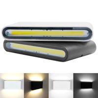 Lampe de mur extérieur étanche IP65 6W 12W COB Applique murale à LED moderne Intérieur Extérieur Décor Haut Bas double tête aluminium lampe mur