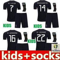 Kids Jersey 2019 Mexico Gold Cup Soccer Jerseys Home Black Y...