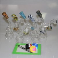 6. 3 Inch Mini Dab Rig Colorful Thick Glass Bongs Water Pipes...