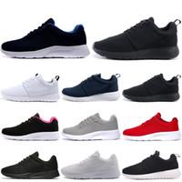남성 여성을위한 Tanjun 실행 실행 신발 트리플 화이트 블랙 올림픽 런던 야외 남성 트레이너 운동 스포츠 스니커즈 36-45 도매