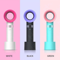 Electric Blackeless Fan Portable Cordless USB-Aufladung Mini-Handheld-Fan-Handheld-Mini-Kühler kein Blatt Handy-Fan-Einzelhandelspaket DHL-Versand