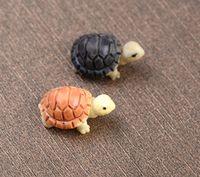 30 шт. Доставка бесплатно мини-животное черепаха фея миниатюра, мини-черепаха украшения для сада река газон садовые принадлежности 2 см желтый и черный