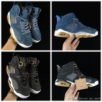6 New Release 2019 LS Denim Mens Basketball Shoes NRG 6s Bla...
