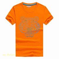 Яркий алмаз Лето Дизайнер футболки для мужчин Верхняя одежда Tiger Head письмо Вышивка майка Мужская одежда Марка с коротким рукавом футболки Женщины A12A