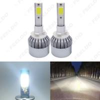 الكل في واحد LED السيارات العلوي 880/881 2-COB 6500K 72W 7600LM السيارات لمبة LED للمصابيح الأمامية Foglight # 2885