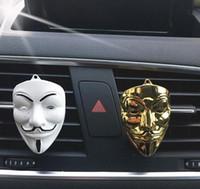 Vendetta Perfume Clip Home Essential Oil Diffuser For Car Outlet Locket Clips Auto Air Freshener Metal V Vent Clip GGA2651