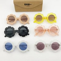 Kids Sunglasses Sunflower Round Girls Sun Glasses Vintage Bo...