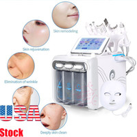 7in1 Hydra Peeling Diamond Dermabrasion Blackhead Remover Face Lifting Device Spa Machine With LED Photon Mask