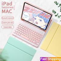 Bluetooth Klavye Kılıfı Için iPad Air 4 10.9 10.2 / Pro 11 9.7 TPU Arka Kapak Kablosuz Klavyeler Deri