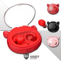 Bluetooth 5.0 inalámbrica nueva Mic auriculares estéreo a prueba de agua Reducción de ruido inteligente TWS auriculares Sensibilidad de dibujos animados mini auricular Noey