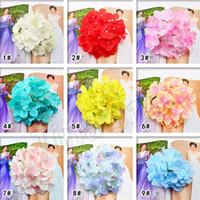 Decorazioni fiori artificiali di trasporto di seta del Hydrangea Per decorazione di festival Commerciale Wedding Bouquet Aisle Fiore 5099