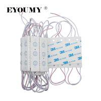 Eyoumy 2835 3 LED AC 110V 220V 모듈 입력 사출 광 LED 라운드 모듈 렌즈 모듈 램프 1.5W 150lm IP66 LED