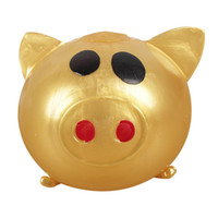 1pc Jello cerdo lindo Anti Stress Splat Agua Cerdo bola del respiradero de ventilación juguete pegajoso cerdo blando antiestrés suave tensión Regalo divertido Alivio