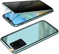 2020 Anti-peeping Магнит флип чехол для Samsung Galaxy S20 ясно закаленное стекло магнитная адсорбционная крышка