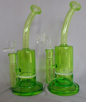 IPO Heady Toro Design Original Green 컬러 벌집 화면 유리 봉수 파이프 DAB 오일 장비 수제 담배 파이프 최고의 품질