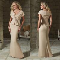 신랑 드레스 이브닝 드레스 정장 드레스 vestidos의 신부 드레스 긴 바닥 길이 주름 어머니의 샴페인 우아한 공주 어머니