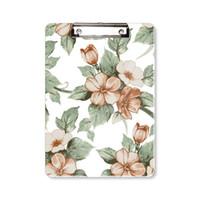 Şık Rattan Çiçekler Dekoratif Pano Klasör Yazı Defteri Destek Plakası A4