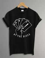 Baixo Preço Tees Top Curto O Pescoço Compressão Pânico Na Camisa Disco T Para Homens tshirt streetwear estranho Engraçado mens t-shirt