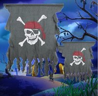 Halloween Requisiten Hausdekoration fold Blumenring Flagge Korea Touch hängende Fahne Verzierungen lustige Piratenflagge Vorhang Parodie Spielzeug