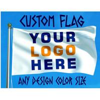 Kundenspezifische Flaggen 4x6ft 120x180cm Customized Flags Banner 4x6 ft Gewohnheit Logo Farbe 100% Polyester gedruckt Personalisierte Muster-Tropfen-Verschiffen