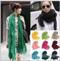 Gasa bufandas Pareo Mujeres sólido color bufandas abrigo de la playa de verano Cabeza de la moda bufandas pañuelo para el cuello de la estola del pañuelo pañuelo Accesorios LTYP48