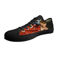 Ingres Boyama 2019 Yeni Trend Özelleştirilebilir Erkekler Günlük Ayakkabılar Düşük üst Siyah Tuval Vulkanize Nefes Yüksek Kaliteli Ayakkabı