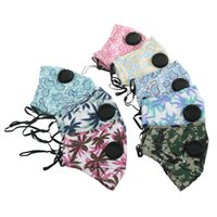 Camo Printed Face Mask Breath Valve Filter Cotton Anti Dust ...