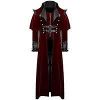 CALOFE Classic Cosplay Vampire Suit Jacket Solid Long Veste ...