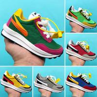Çocuk Sacai LDWaffle Çocuk Erkekler Kızlar Yeşil Gusto Sneaker Çam LDWAFFLE / SACAI Yeni LDV Waffle Spor Koşu Koşu ayakkabıları x
