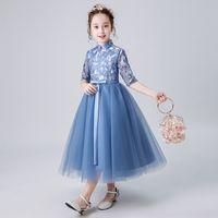 슈퍼 외국 가스 소녀 Guzheng 성능 피아노 성능 웨딩 드레스 꽃 소년 드레스 여성 가을 / 겨울 공주 스커트
