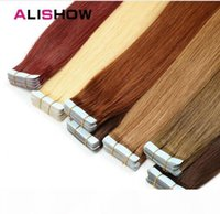 Tape In Remy Human Hair Extensions Double Drawn Remy Hair St...