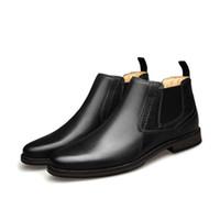 Gli uomini d'affari scarpe di cuoio Cowskin Martin Calzari progettista di alta qualità formale Slip-on di scarpa del partito del vestito da sposa Formato dei pattini US7.5-13