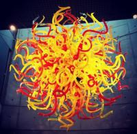 Ev Dekorasyonu için% 100 El Üflemeli Murano Cam Dale Chihuly Sanat Murano Avize Camı Kubbe Aydınlatma