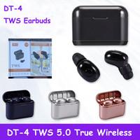 DT-4 TWS Mini Oreillettes Bluetooth sans fil 5,0 écouteurs binaural Appels Casque stéréo Lecteurs MP3 In Ear Casque DT-1 DT-2 DT-3