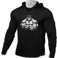 2019 gym new Fitness Trendy Sports Bodybuilding Cotton Long-...