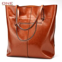 Fashion Genuine Leather Women Shoulder Bags Large Tote Bag W...
