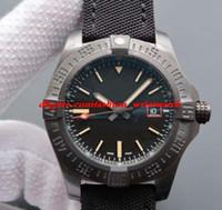 Lüks İzle Blackbird Siyah Naylon 44mm Siyah Titanyum Erkek İzle V1731110 Otomatik Moda erkek Saatler Kol Saati