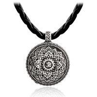 Тибетский Дух Мандала Унисекс Простой Моды Геометрические Религиозные Амулет Ожерелье