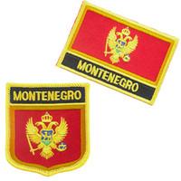 Drapeau du Monténégro Livraison gratuite fer à broder sur le patch 2pcs par Set PT0004-2
