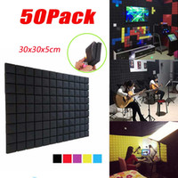 (50Pack) BEIYIN Checker-Block Akustikschaum Schallfeld Studio Sound Behandlungen Noise Cancellation Sponge Lattice Wandaufkleber 12x12x2