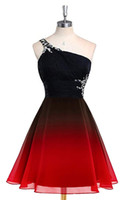 New Sexy 2019 Real One Shoulder Crystals Gradient Prom Dress...