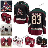 2019 Customize Conor Garland Arizona Coyotes Hockey Jerseys Custom Mens  Alternate Black  83 Conor Garland Stitched Hockey Shirts S-XXXL ab569e876