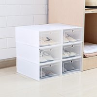 Thickened flip shoes transparent Drawer Case Plastic Shoe Bo...