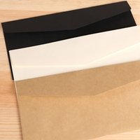 10PCS classique blanc noir Kraft papier vierge Mini fenêtre Enveloppes mariage invitation Enveloppe cadeau enveloppe