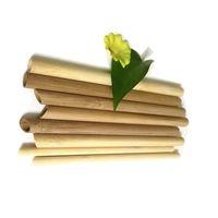 끝 베벨 고품질 천연 대나무 보바 빨대 튜브는 개인 상표 재사용 가능한 대형 사용자 정의 로고를 일괄