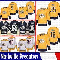 Günstige Nashville Predators 35 Pekka Rinne 76 P.K. Subban Eishockey Trikots 9 Filip Forsberg 92 Ryan Johansen 59 Roman Josi Jersey 2018 2019 New