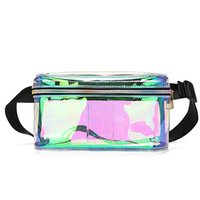 Women Laser Waist Pack Women PVC Clear Bag Lady Laser Waist ...