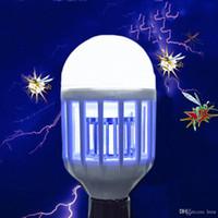 전기 트랩 라이트 실내 15W E27 LED 모기 전구 안티 곤충 플라이 버그 신랄한 비평 2835SMD LED 램프 110V 220V 나이트 라이트