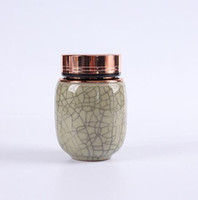 Kung Fu chino té Longquan de cerámica pequeño de toll olla Ge Horno caja de cierre tanque S